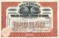 Marconi Wireless Telegraph Company of Canada - 1905