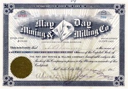May Day Mining & Milling Co.  - Tintic Mining District, Utah 1910