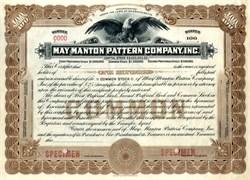 May Manton Pattern Company, Inc. - Massachusetts 1916
