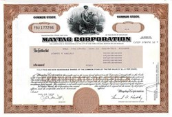Maytag Corporation ( Famous Household Appliance Company - Maytag Man )