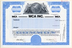 MCA Inc. (Music Corporation of America) Universal Studios with Lew Wasserman as Chairman - 1988