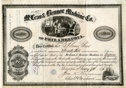 McLean and Bennor Machine Company of Philadelphia Pennsylvania - Treadle sewing machine vignette  - 1876
