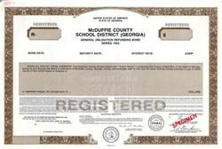 McDuffie County School District - Georgia 1993