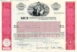 MCI Communications Corporation Bond ( Pre Worldcom Merger )
