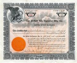 McNutt Non-Explosive Manufacturing Company - New York 1908