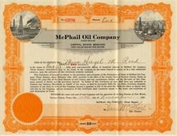 McPhail Oil Company -  Fort Worth, Tarrant County, Texas 1922