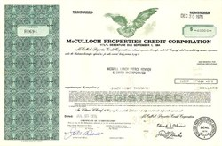 McCulloch Properties Credit Corporation (Lake Havasu Founder)  - Nevada 1975