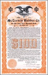 McTernen Rubber Co. 1909 - Boston, Massachusettes