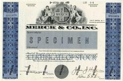 Merck and Company, Inc.(Specimen) - New Jersey 1982