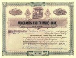 Merchants and Farmers Bank - Rolla, Missouri 1927