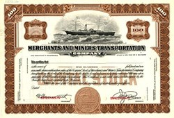 Merchants and Miners Transportation Company - New York