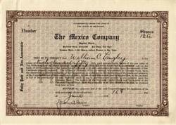 Mexico Company - Delaware 1919