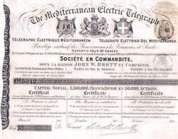 Mediterranean Electric Telegraph Company - 1853