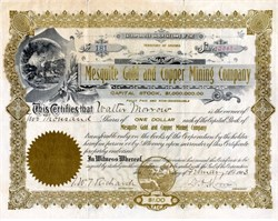 Mesquite Gold and Copper Mining Company - Territory of Arizona, 1903