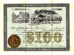 Mendenhall Gold Mining Co. - Illinois 1894