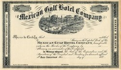 Mexican Gulf Hotel Company - Pass Christian, Mississippi -  1882