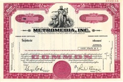 Metromedia, Inc. (Became Fox Television Network) John Kluge as President - Delaware 1976