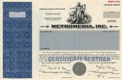 Metromedia, Inc. (Became Fox Television Network) John Kluge as President - Delaware 1983