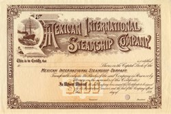 Mexican International Steamship Company - 1890's