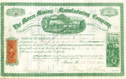Mercer Mining and Manufacturing Company - Mercer, Pennsylvania 1869