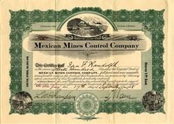 Mexican Mines Control Company - Arizona 1908