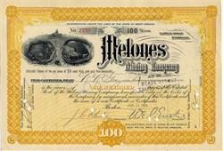 Melones Mining Company - Melones, California 1899