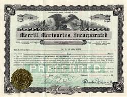 Merrill Mortuaries, Inc. - Utah 1931