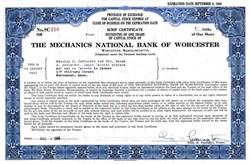 Mechanics National Bank of Worchester - Massachusetts 1964