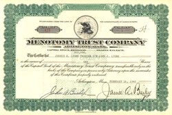 Menotomy Trust Company - Arlington, Mass 1940 - Indian Vignette