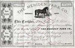 Meriden Park Co. (Horse Vignette) signed by Nathaniel Lyman Bradley  - Meriden, Connecticut 1884
