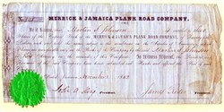 Merrick and Jamaica Plank Road 1852 - signed John Alsop King