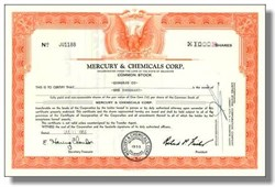 Mercury & Chemicals Corporation 1956