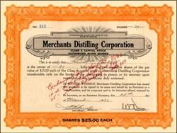 Merchants Distilling Corporation 1936 - Terre Haute, Indiana