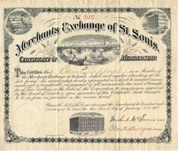 Merchants Exchange of St. Louis  - Early Commodity market - Eads Bridge Vignette