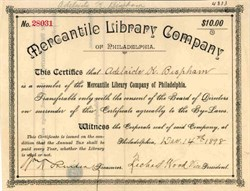 Mercantile Library Company 1898 - Philadelphia