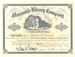 Mercantile Library Company 1912 - Philadelphia