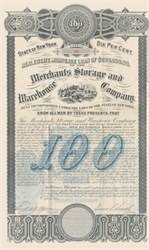 Merchants Storage and Warehouse Company 1885 - New York