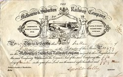 Melbourne & Suburban Railway Company - Australia 1859