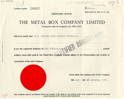 Metal Box Company Limited
