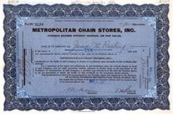 Metropolitan Chain Stores, Inc.