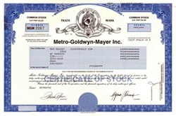 MGM - Metro-Goldwyn-Mayer Inc.
