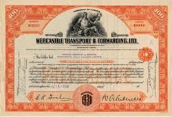 Mercantile Transport & Forwarding, Ltd. - Canada 1938