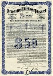 Metropolitan Telephone and Telegraph ( 6% Gold Bonds)- 1912