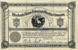 Merchants Union Telegraph Machine Company - Portland, Maine 1882