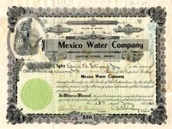 Mexico Water Company - 1928