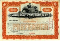 "Metropolitan West Side Elevated Railway Company - Chicago ""L"" 1898"