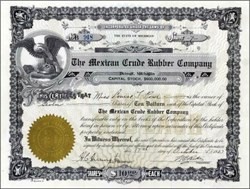Mexican Crude Rubber Company 1927