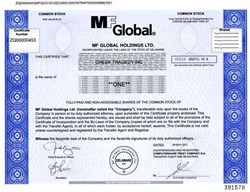 MF Global Holdings Ltd. (Issued to Greek Tragedy, Inc.) - Jon Corzine as CEO - Major scandal