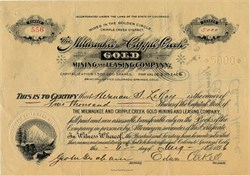 Milwaukee and Cripple Creek Gold Mining and Leasing Company - Colorado 1896
