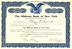 Midtown Bank of New York ( Became JPMorgan Chase )  - New York 1928